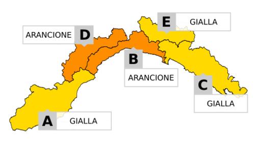 Maltempo in Liguria: Arpal aggiorna l'allerta meteo per temporali