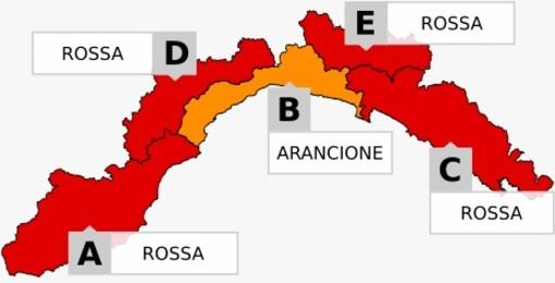 Maltempo, allerta arancione e rossa per temporali e piogge diffuse su tutta la Liguria