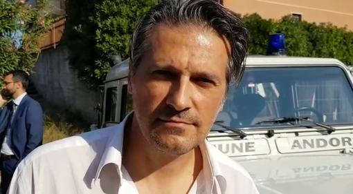 L'assessore regionale Stefano Mai in visita a Calizzano