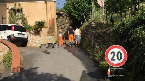 """Foto tratta dalla pagina Facebook """"Comune di Calice Ligure"""""""