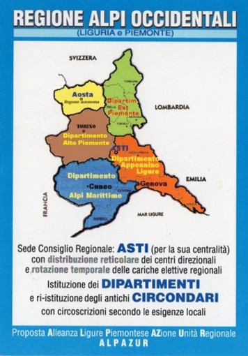 Regione unica Alpi Occidentali con Genova ago della bilancia, le considerazioni di un nostro lettore indirizzate al Presidente Toti