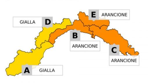 Temporali in Liguria: allerta arancione sul centro levante, gialla nel ponente