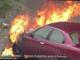 Auto in fiamme ad Albissola: sul posto i vigili del fuoco (VIDEO)