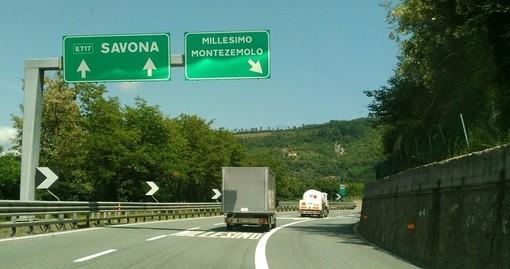A6, nella notte chiuso per lavori il tratto Ceva-Millesimo in direzione Savona