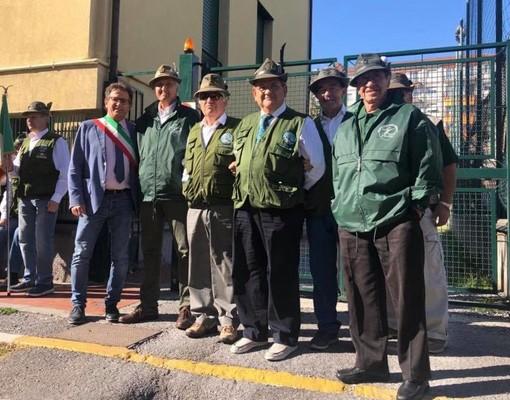 Il gruppo Alpini di Cairo Montenotte presente al raduno di Savona (FOTO)