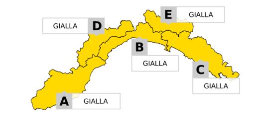 Allerta gialla per temporali: temperature in diminuzione