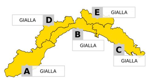 Maltempo in Liguria: scattata l'allerta gialla per temporali