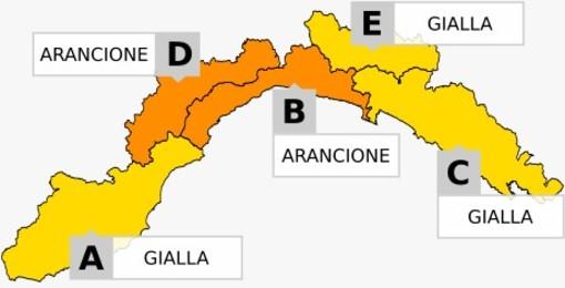 Prolungata l'allerta meteo arancione su Levante Savonese e Val Bormida per piogge diffuse e persistenti