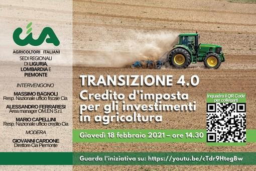 """Agricoltura 4.0, Cia Savona: """"Credito di imposta per investimenti in nuove tecnologie"""""""
