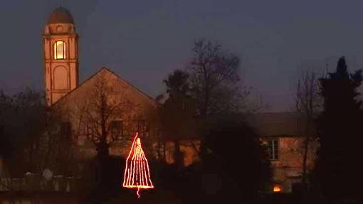 """Un albero """"eco sostenibile"""" illumina il Natale dell'ex convento San Giacomo di Savona"""