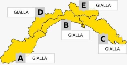Diramata nuova allerta gialla in tutta la Liguria