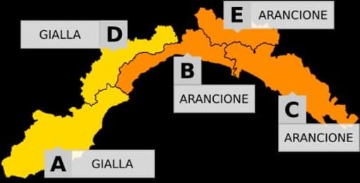 L'Arpal dirama una nuova allerta meteo per la giornata di domenica sulla Liguria