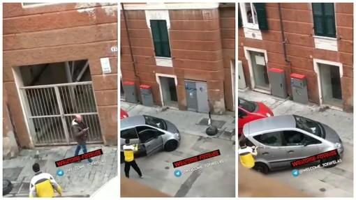 Savona, scene da bronx a Villapiana: minacce e vetri dell'auto spaccati in pieno giorno (VIDEO)