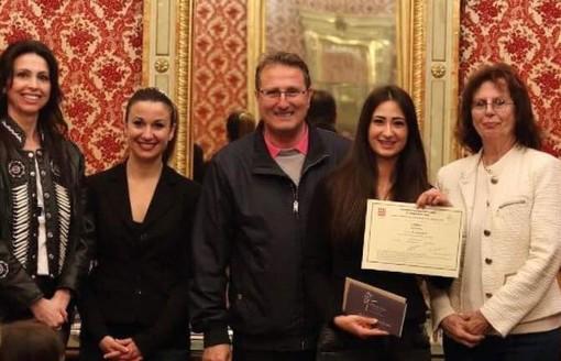 Le giovani ballerine dell'Accademia di Savona in Sala Rossa
