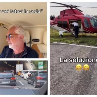 Dopo Mancini anche Briatore bloccato in autostrada, ma l'imprenditore trova la soluzione (VIDEO)