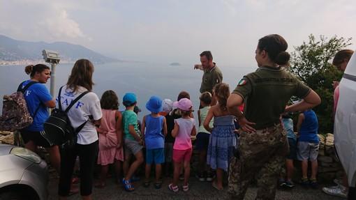 Andora: bambini alla scoperta della base radar di Capo Mele