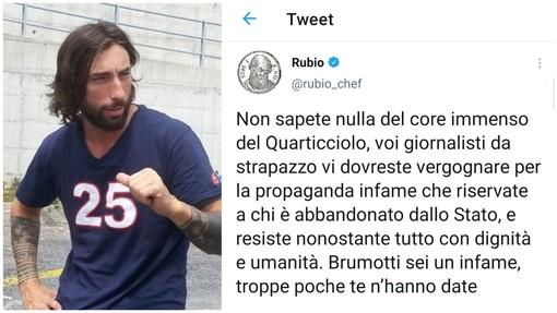 """Vittorio Brumotti aggredito a Roma, Chef Rubio lo attacca: """"Infame, troppe poche te n'hanno date"""""""