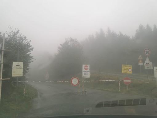 Diversi alberi abbattuti dal vento e una frana: chiusa la comunale tra Bormida e il Melogno