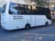 Arrivati da Mondovì i bus della Croce Rossa per portar via da Alassio gli ospiti piemontesi