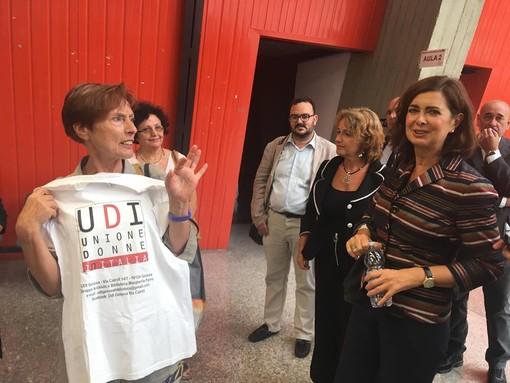 """Boldrini e Camiciottoli in Tribunale a Savona per il processo: """"Inaccettabile l'augurio di uno stupro""""; """"Sono stato frainteso, contesto il modo di fare politica"""""""