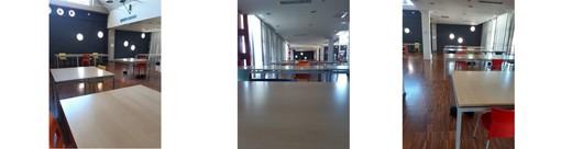 Nella foto: le nuove postazioni distanziate nella biblioteca del Campus di Savona