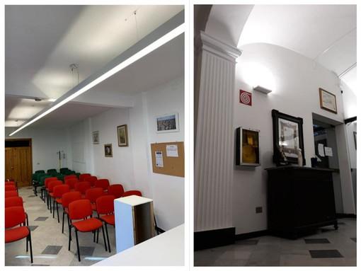 "Carcare, lampade a led nella biblioteca comunale ""A.G. Barrili"" (FOTO)"