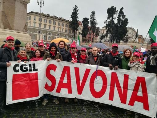 Manifestazione nazionale del 9 febbraio a Roma: anche la Cgil di Savona in campo con tantissime persone