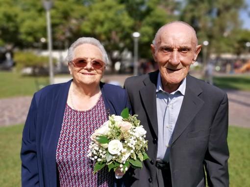 Andora, Susanna e Giovanni Battista Caviglia festeggiano 70 anni di matrimonio