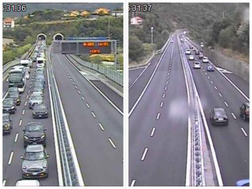 Disagi per traffico intenso: code a tratti lungo l'autostrada A10 (FOTO)