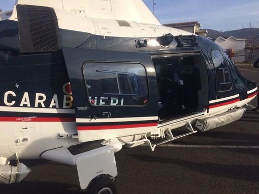 Tentato furto ad Alassio: i carabinieri pattugliano la zona con l'elicottero