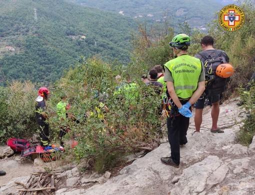 Climber muore precipitando a Finale: è un 56enne tedesco, non aveva il caschetto