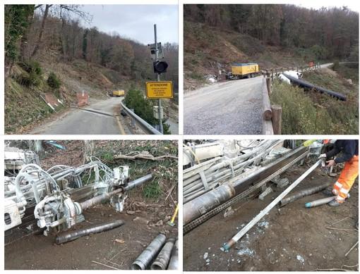 Varazze, consolidamento frana in località Ferraie, chiusa fino al 20 novembre la strada per il Beigua