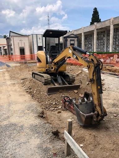 Iniziati i lavori di ampliamento interno del cimitero di Leca d'Albenga