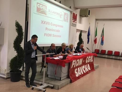 """Congresso Fiom, futuro industrie savonesi, il segretario Mandraccia: """"Siamo in presenza di una vera e propria vertenza Savona"""""""
