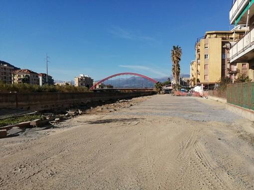 Albenga, terminata la prima fase di messa in sicurezza dell'argine Lungocenta Croce Bianca