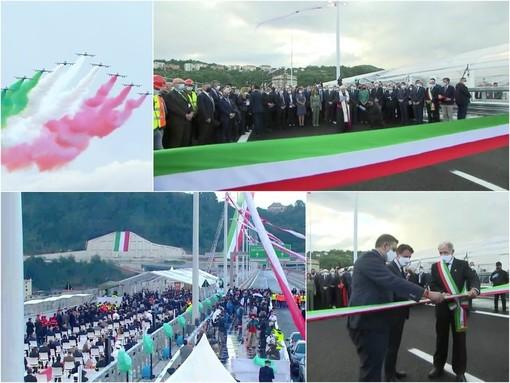 """La Liguria è di nuovo unita, il nuovo ponte San Giorgio è realtà. Bucci: """"Genova sia modello e messaggio per l'Italia"""" (FOTO e VIDEO)"""