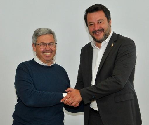 Matteo Salvini ad Albenga e Sanremo