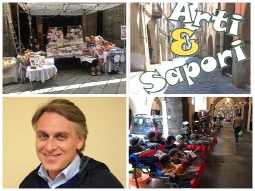 """Pieve di Teco riparte dal mercatino 'Arti e Sapori'. Alessandri: """"Incentiviamo il turismo e l'economia del territorio. Un appuntamento importante per l'intera valle Arroscia"""""""