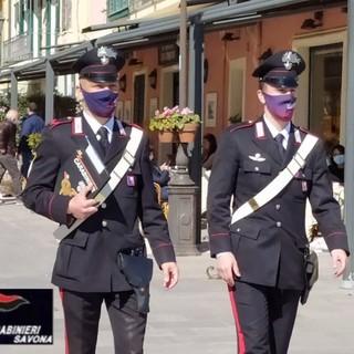 Alassio, controlli dei carabinieri per le vie della città (FOTO e VIDEO)