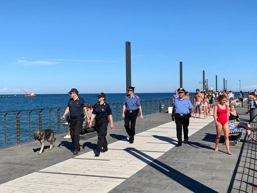 Alassio, nel fine settimana gli occhi dei carabinieri puntati sulle zone nevralgiche della città (FOTO)