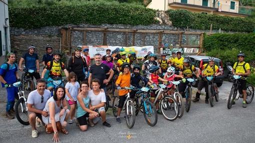 La pedalata notturna di Ca' de Bò a Vezzi Portio raccoglie oltre 600 euro per l'oncologia del Gaslini