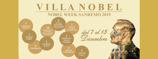 Nobel Week: a Sanremo dal 7 al 13 dicembre una settimana internazionale dedicata ai Premi Nobel