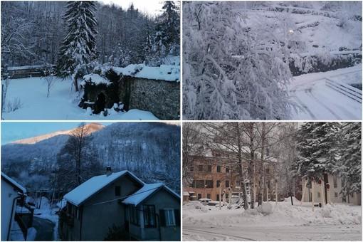"""Oltre 30 cm di neve a Calizzano, il sindaco Olivieri: """"Buona giornata dalla 'piccola Svizzera'"""""""
