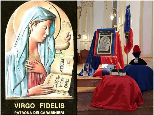 Ad Alassio una santa messa dei frati cappuccini per celebrare la Virgo Fidelis, patrona dell'Arma dei carabinieri