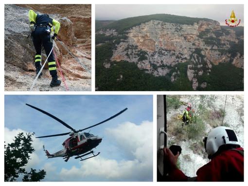 Finale, rocciatrice ferita al Bric Pianarella: intervento dell'elisoccorso (FOTO)