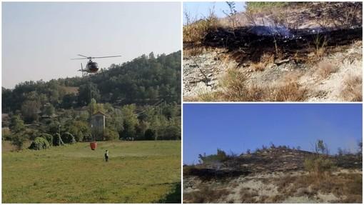 Cairo, incendio boschivo tra le località Rebuffelli e Ville: un denunciato