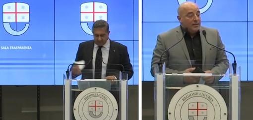 """Toti e Berrino in conferenza stampa: """"Coperture sanitarie e tamponi rapidi in farmacia per far tornare i turisti esteri"""""""