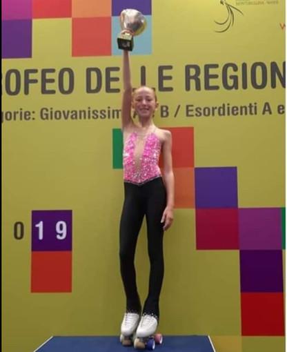 L'alassina Carola Marengo vince il titolo di campionessa italiana esordienti A di pattinaggio artistico al Trofeo delle Regioni tenutosi a Montebelluna