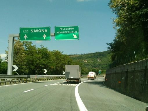 Lavori sulla A6 Torino - Savona: nella notte tra il 2 e 3 settembre chiusa la stazione di Millesimo