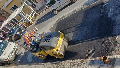 Alassio, ultimati i lavori in via Dante per le riparazioni all'acquedotto